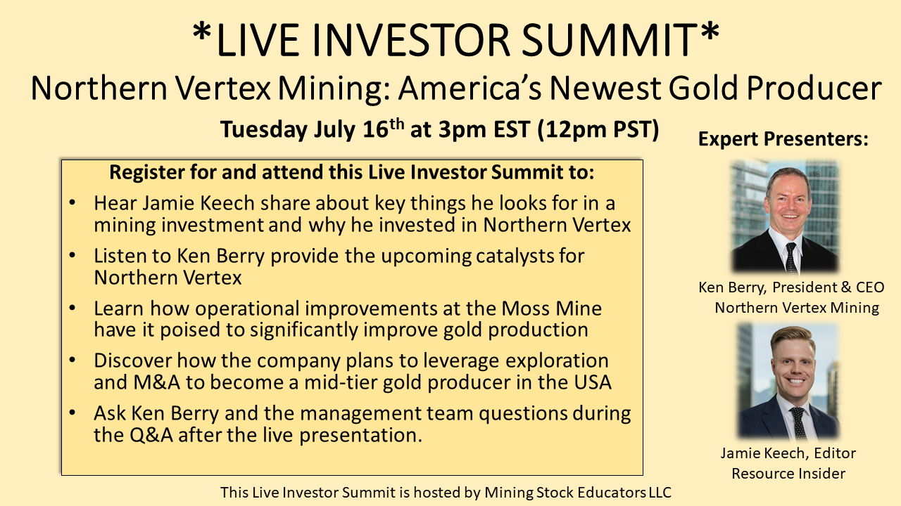 LIVE INVESTOR SUMMIT_Northern Vertex 7.16.19